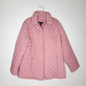 Lane Bryant Quilted Zipper Coat Pink Size 18/20